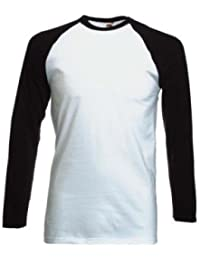 Fruit of the Loom Baseball Langarm ( Longsleeve ) T-Shirt S M L XL XXL