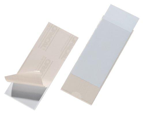Durable 807519 Selbstklebetasche Pocketfix (150 x 58 mm (Innenmaß)) Packung à 10 Stück transparent