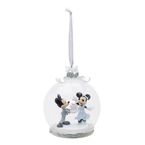 Unbekannt Offizielle Disney Mickey und Minnie Mouse-Kuchen-Dekoration zum Aufhängen mit (Deluxe Eis Prinzessin Kostüm)
