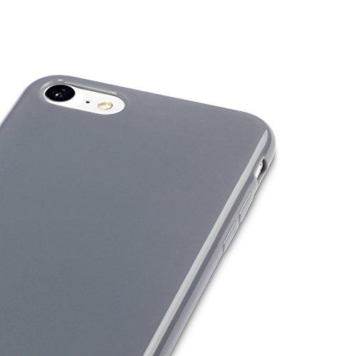 Coque iPhone 8 / iPhone 7, Terrapin Étui Coque en Gel TPU pour iPhone 8 Housse - Solide Jaune Solide Gris