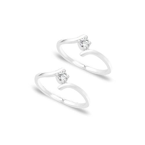 Taraash White CZ 925 Sterling Silver Toe Ring For Women LR0791S