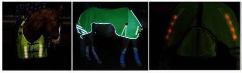 Reflex-Leuchtdecke , Pferdedecke mit eingebauter Beleuchtung , Größe M