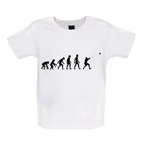 Baby T-Shirt - Evolution of Man - Hammerwurf - 8 Farben - 3 bis 24 Monate - Weiß - 6-12 Monate -