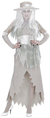 Widmann 9899E - Erwachsenenkostüm Geister Lady, Kleid mit Hut, Umhang, Gürtel und (Gespenst Kostüm Lady)