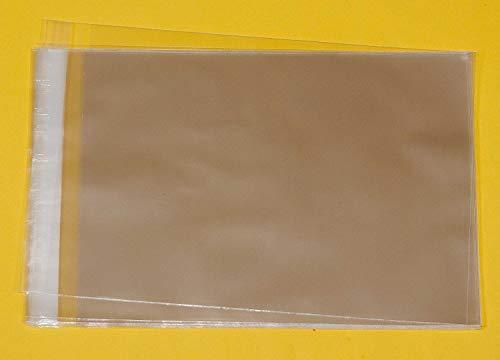 Lot de 100 microns Multi-C5 30 pochettes en Cellophane pour maitenir à 10 cartes et enveloppes C5-177 mm x 235 mm + rabat autoadhésif 40 mm