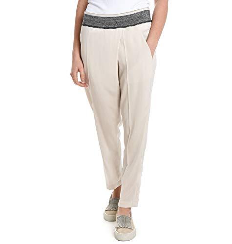 Brunello Cucinelli Pantaloni Donna M0f51p1911c2350 Seta Beige
