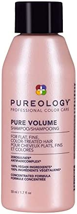 Pureology | Pure Volume | Shampoo | For Flat, Fine, Colour-Treated Hair | Adds Weightless Volume | Vegan
