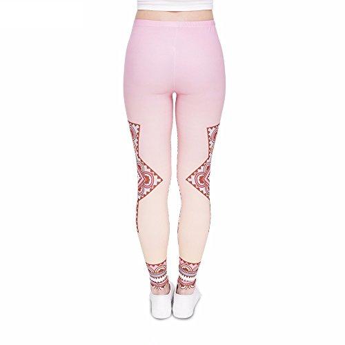 2761db1a3b72aa Bunte Damen Leggings Hose Einheitsgröße S-L | Mädchen Leggins bedruckt in  verschiedenen Muster | Yoga Pants ...