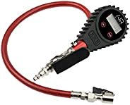 ARB ARB601 Digital Tire Pressure Gauge with Braided Hose and Chuck, Inflator and Deflator 25-75 PSI Readings