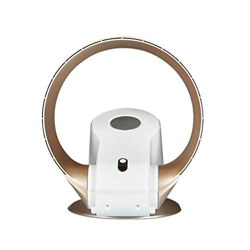 LIUXUEPING Klimaanlage Ventilator, Kalter Ventilator, Elektrischer Ventilator, Blattloser Elektrischer Ventilator, Wandventilator, Desktop-Lüfter (Farbe : Gold)