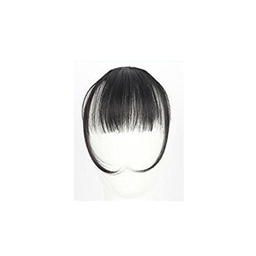 chen Clip On Clip In Front Hair Bang Fransen Haar Verlängerung Stück Thin Mini Luft Liu Hai Perücke (A) (Grün-haar-verlängerung)