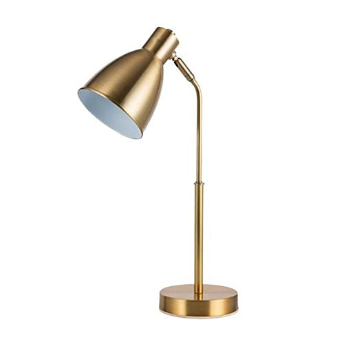 Lampe de bureau Office Eye Caring Simple Designs Etude à DEL Etude Lampes de lecture Adultes Lampes de table de travail Chambre à coucher Style Américain Métal Laiton