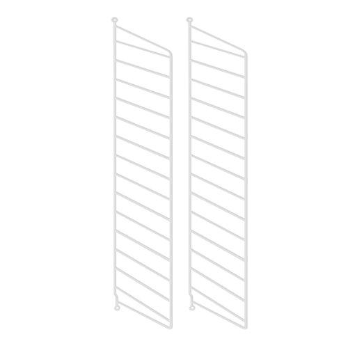 Unbekannt String - Wandleiter für String Regal 75 x 30 cm (2er-Set), weiß