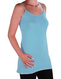 EyeCatch TM - Angelique Womens Strappy Cami Top Ladies Plus Size Long Camisole Vest Sizes 14 - 28