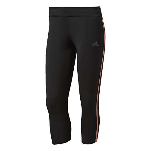 adidas Damen Response 3/4 Hosen, Black/Easy Orange, XS