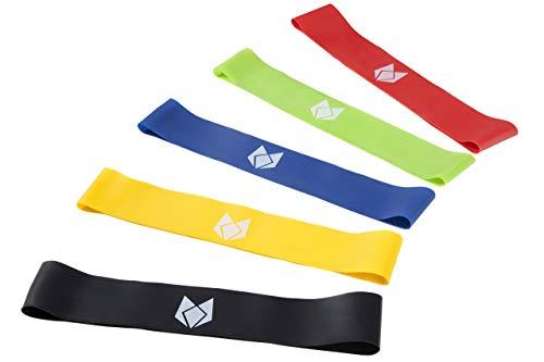 Foxred Sports Fitloop Fitnessbänder Set Fünf Stärken