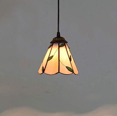 Lampada A Sospensione Green Leaves Stained Glass Lampade Da Soffitto Tiffany Pendente Di Stile Con Iron Base Per Pranzo Camera Ucina Bar Caffetteria Plafoniere Da Ufficio 6 Pollici