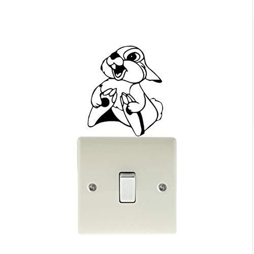 WFYY Cute Baby Rabbit Decorativeswitch Vinyl Aufkleber Coole -