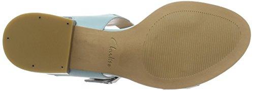 Clarks - Bliss Melody, Sandali Donna Blu (DuckEgg Blue Lea)