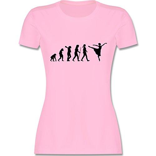 Evolution - Ballett Evolution Arabesque - M - Rosa - L191 - Damen Tshirt und Frauen T-Shirt Arabesque Tee