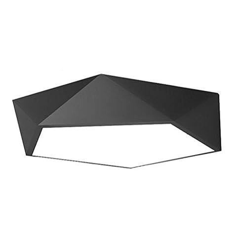 DDNL Contemporary Geometry Creative Ceiling Lamp LED Energy Saving Flush Mount with 1 Light,Black