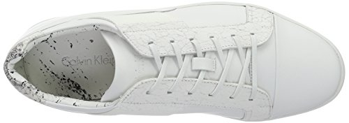 Calvin Klein Nickson Calf/Laser Texture/CON, Sneakers Basses Homme Blanc (Wht)