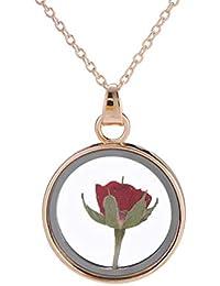 829bcc47abbc LEVEL GREAT Corea del Estilo de la Forma Redonda de Cristal Collar de la  Mujer en seco Pendiente de la Flor Cadena…