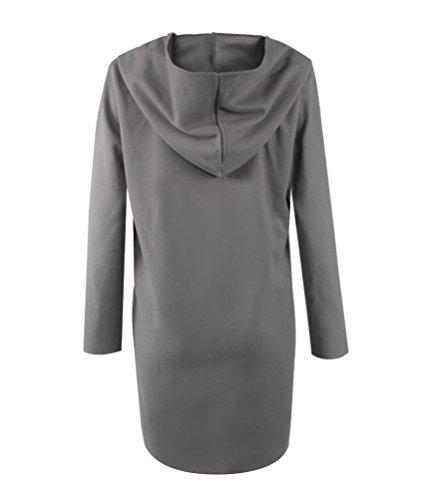 SunIfSnow - Manteau - Duffle coat - Uni - Manches Longues - Femme Gris