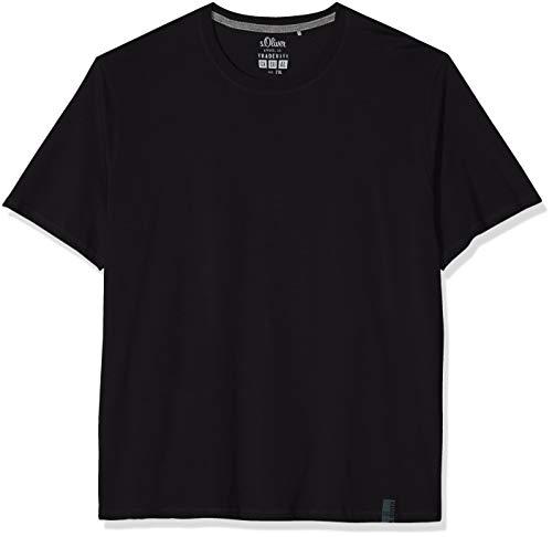 s.Oliver Big Size Herren 15.809.32.4113 T-Shirt, Schwarz (Black 9999), XXX-Large