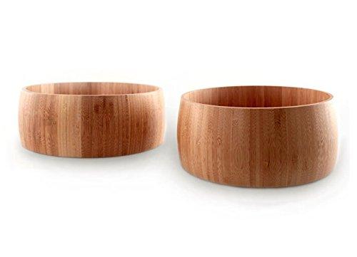 Set de 2 cuencos de bambú (15 y 19 cm) - madera ecológica