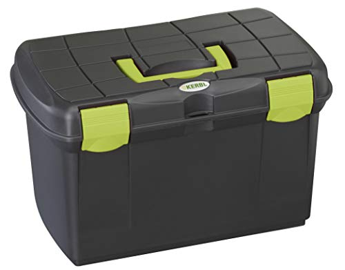 Kerbl 321747 Putzbox Arrezzo schwarz / pistazie mit herausnehmbaren Einsatz