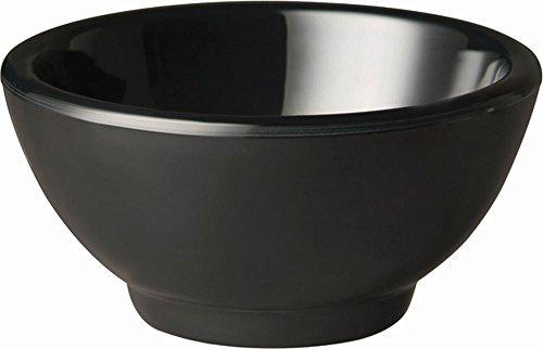 APS gf141 Mélamine Bol rond, Pure Noir