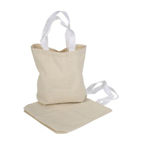 Rhode Island Novelty 12Canvas Tote Taschen, 22,2x 6,3x 21cm Natur Tasche # 01 1-Pack Natur - Zwölf Tote Baumwolle
