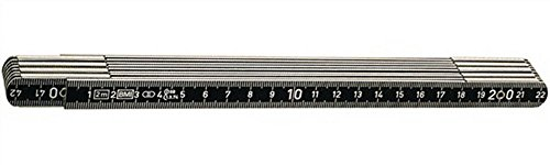 Gliedermaßstab Alu. L.2m m.Federgelenk