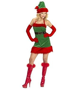 (Widmann wdm98739–Kostüm Elfe Helfer von Santa Weihnachten, Rot, Small)