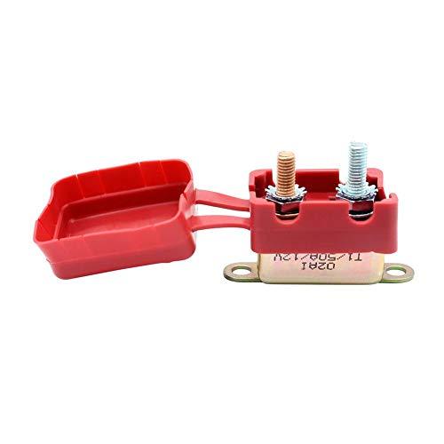 YouN 12V-Leistungsschalter mit Abdeckung Auto Reset Dual-Batterie-Sicherung für Auto (50A)