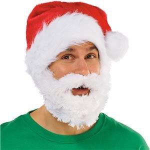 Santa Hat mit Bart–Herren 's Christmas Hat–Einheitsgröße für (Erwachsene Donut Kostüme)