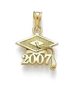 Or 14ct 2007Graduation Cap Pendentif