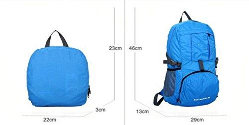 LQABW Ultra-light Can Be Haut Mountaineering Eintritt Gefaltete Außen Männer Und Frauen Modelle Wandern Rucksack Tasche Red