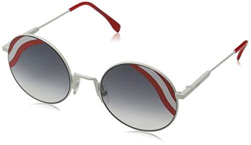 Fendi Damen FF 0248/S 9O VK6 Sonnenbrille, Weiß (White/Dark Grey Sf), 53