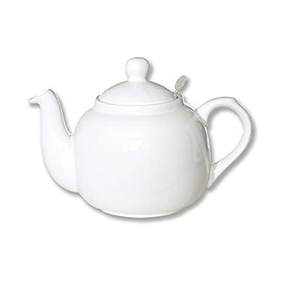 Théière en céramique avec filtre inox 1,5L blanc - FARMHOUSE - Bruno Evrard