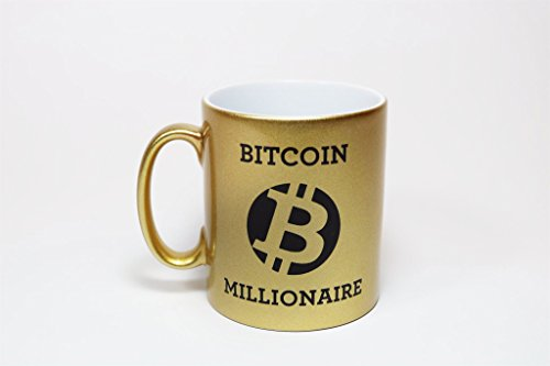 Tasse Bitcoin Millionaire - BTC -Goldtasse - Kaffeetasse - Etherum - Blockchain - ETH - 2