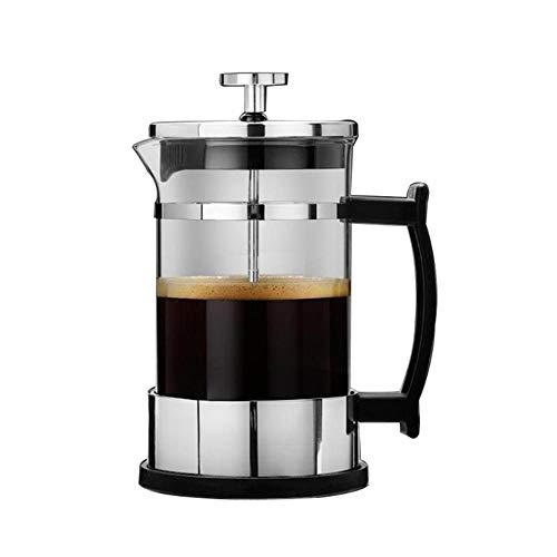 WWSUNNY Manuelle Kaffee Espressomaschine Topf Edelstahl Glas Teekanne Cafetiere Französisch Kaffee...
