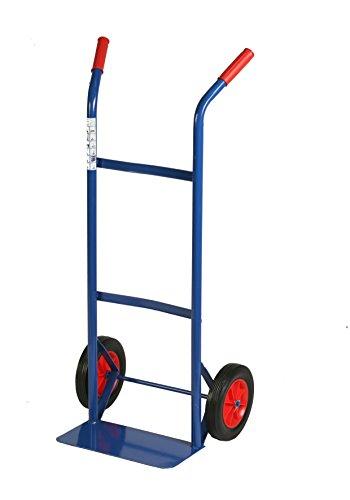Archimède HT Chariot double manche portée kg 80, Métal, Bleu, 46 x 35 x 100 cm