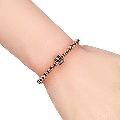 Imagen de pulseras pulseras de cuentas de cobre de prisma simple cuentas ajustables trenzado macramé encanto pulsera hecha a mano para hombres mujeres regalo de joyería joyería alternativa