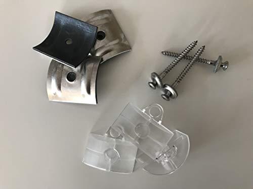 Set aus je 100 Stück Kalotten & Abstandhalter & Spengler-Schrauben TX20 EPDM-Dichtscheiben 4,5x55mm für Trapez-Sinus Profil 76/18 Wellplatten PMMA Acrylglas