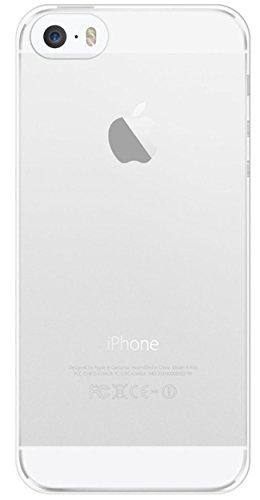 COVERbasics AIRGEL 0.3mm Kit per Apple iPhone 5 5s SE Cover Custodia Bumper Morbida Guscio TRASPARENTE Protezione Antiurto TPU Silicone Gel Gomma Flessibile Sottile Fina Invisibile Ultra Thin Slim