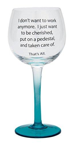 k Ergab blau ombre Wein Glas, 73/10,2cm, 12oz ()