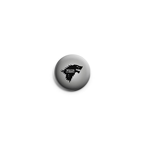 Game of Thrones House Stark Wolf-Winter is Coming, Button Pin Pins Anstecker 38 mm
