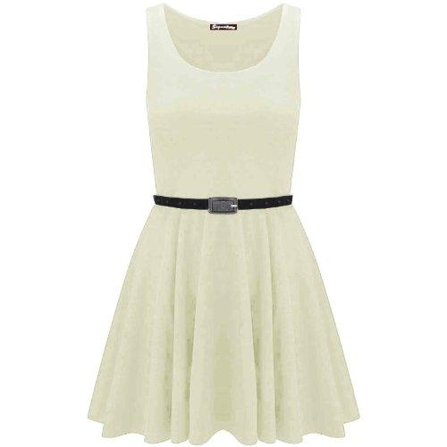 Swagg Fashions -  Vestito  - Donna Beige - Cremefarben